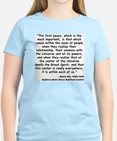 Black Elk Spirit Quote T-Shirt