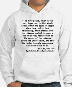 Black Elk Spirit Quote Jumper Hoody