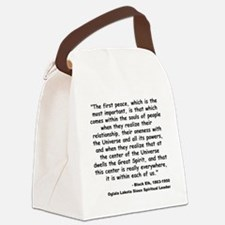 Black Elk Spirit Quote Canvas Lunch Bag