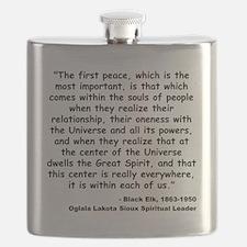 Black Elk Spirit Quote Flask