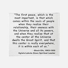 Black Elk Spirit Quote Throw Blanket