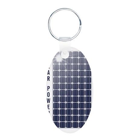Solar_Panel_4_Color.gif Aluminum Oval Keychain