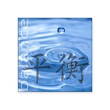 "balance-water Square Sticker 3"" x 3"""
