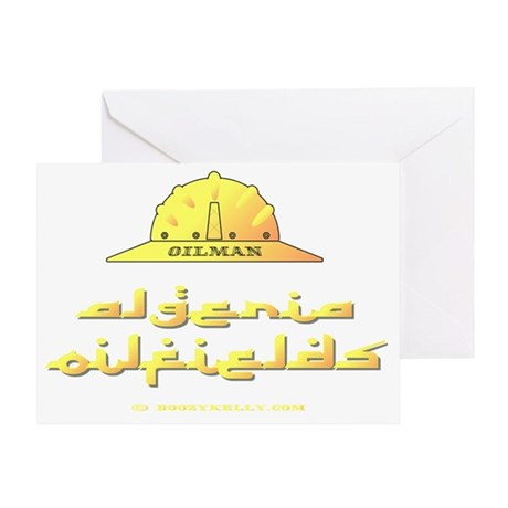 Algeria Oilman A4 ZZC ausing adj Greeting Card