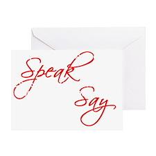 Awareness tee Something to Say white Greeting Card