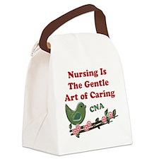 Nursing CNA Green Canvas Lunch Bag