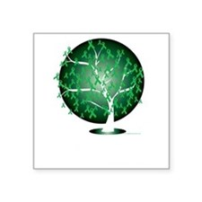 "Mental-Health-Tree-blk Square Sticker 3"" x 3"""
