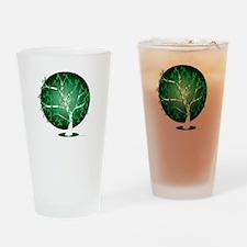 Mental-Health-Tree-blk Drinking Glass