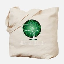Mental-Health-Tree-blk Tote Bag