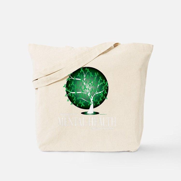 Mental-Health-Tree-blk Tote Bag