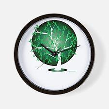Mental-Health-Tree-blk Wall Clock