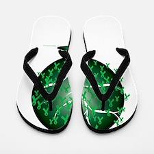 Mental-Health-Tree-blk Flip Flops
