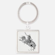 Rodeo-bull rider 005 Square Keychain