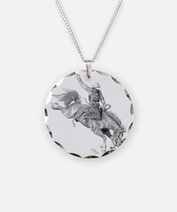 Rodeo-bull rider 005 Necklace