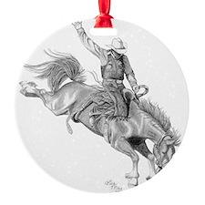 Rodeo-bull rider 005 Ornament