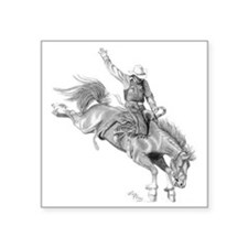 "Rodeo-bull rider 005 Square Sticker 3"" x 3"""