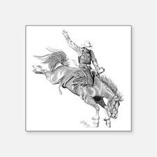 "Rodeo-bull rider 005 Square Sticker 3"" x 3"""