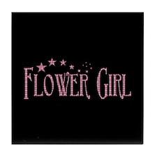 Flower Girl - Pink Stars Tile Coaster