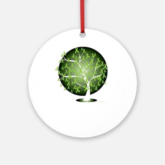 Non-Hodgkins-Lymphoma-Tree-blk Round Ornament