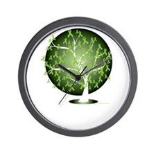 Non-Hodgkins-Lymphoma-Tree-blk Wall Clock