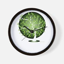 Non-Hodgkins-Lymphoma-Tree-blk Wall Clock