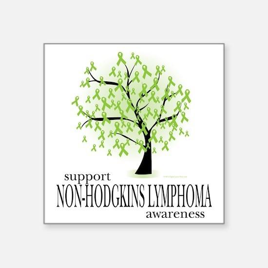 "Non-Hodgkins-Lymphoma-Tree Square Sticker 3"" x 3"""
