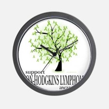 Non-Hodgkins-Lymphoma-Tree Wall Clock