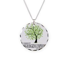Non-Hodgkins-Lymphoma-Tree Necklace Circle Charm