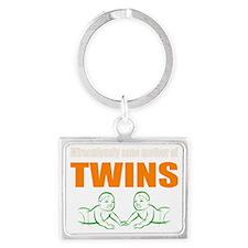 Sane mother of twins Landscape Keychain