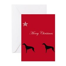 Christmas Greyhound Greeting Cards