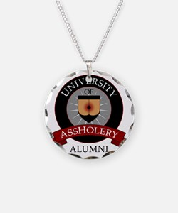 UofAalumni Necklace Circle Charm
