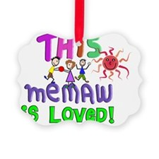 This memaw is Loved GREEN Ornament
