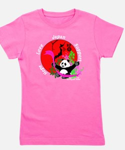Japan Earthquake Relief Support 3D Pand Girl's Tee