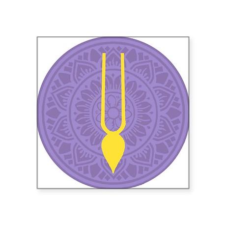 "Tilak Purple Square Sticker 3"" x 3"""