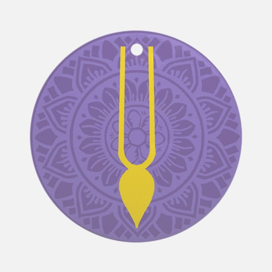 Tilak Purple Round Ornament