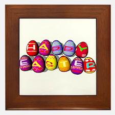 EASTER EGGS Framed Tile