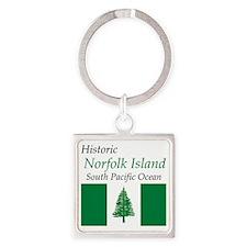 Norfolk_Island2 Square Keychain