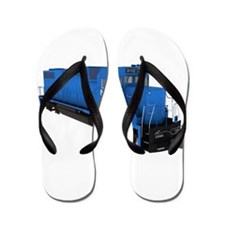 Blue Train Engine Flip Flops