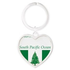 Norfolk_Island1 Heart Keychain