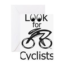 Eyes_Look_for_Cyclists Greeting Card