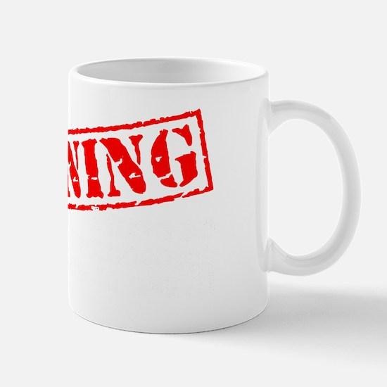 Awareness tee WARNING white Mug