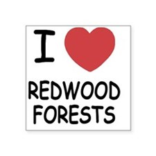 "REDWOOD_FORESTS Square Sticker 3"" x 3"""