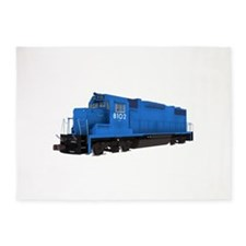 Blue Train Engine 5'x7'Area Rug