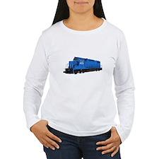 Blue Train Engine Long Sleeve T-Shirt