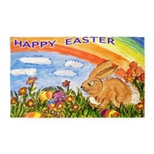 happy easter large poster 3'x5' Area Rug