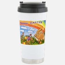 happy easter large poster Travel Mug