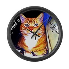 My Breed is Rescued Large Wall Clock