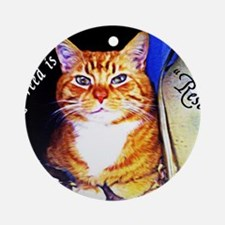 My Breed is Rescued Round Ornament