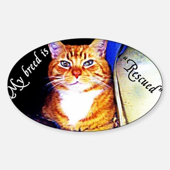 My Breed is Rescued Sticker (Oval)