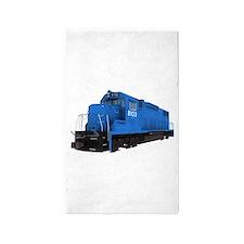 Blue Train Engine 3'x5' Area Rug